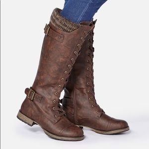 Brown Lace Up Boot (JustFab)